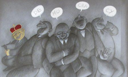 democracy-acrilico-e-grafite-su-tela-cm-70x90+30x60-particolare
